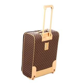 Pierre Cardin Signature Collection Brown 4-piece Luggage Set