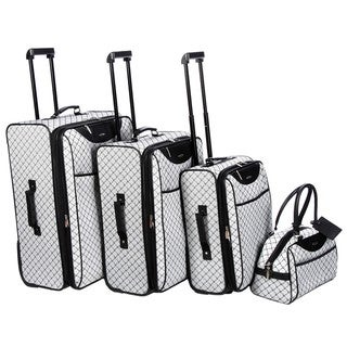 Pierre Cardin Signature Collection Grey 4-piece Luggage Set