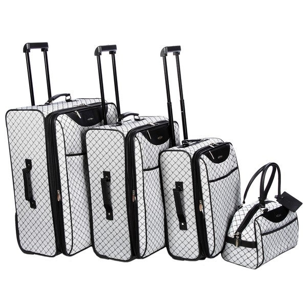 Pierre Cardin Signature Collection Grey 4-piece Luggage Set - Free ...