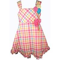 Bonnie Jean Girl's Pink Gingham Balloon Birthday Dress