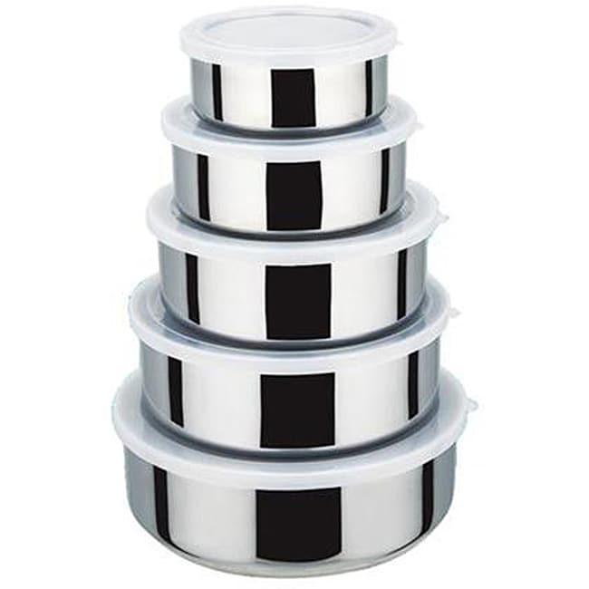 KitchenWorthy 15-piece Stainless Steel Kitchen Storage Bowl Set (Case of 24)