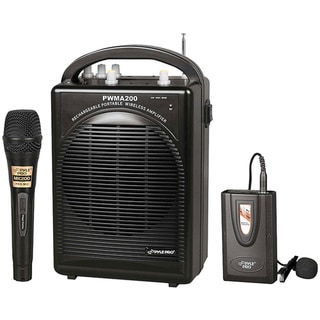 Pyle Portable PA System with Wireless Lavalier Mic