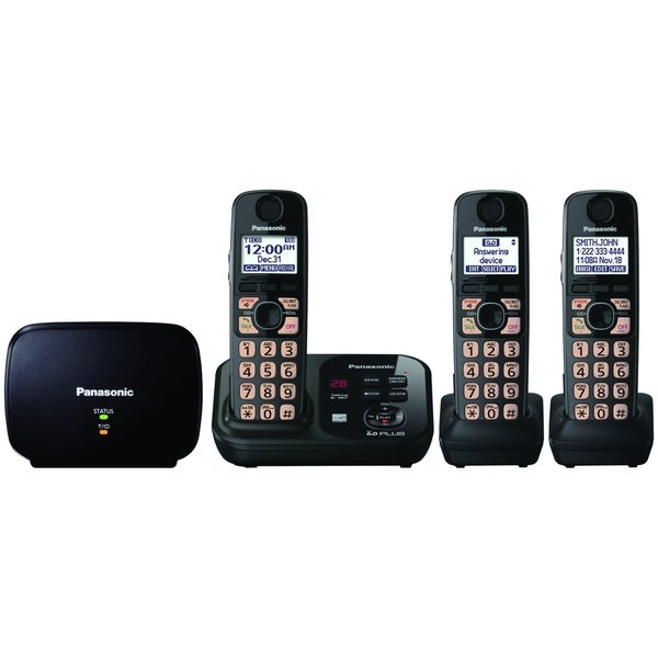 Panasonic KX-TG4753B DECT 6.0 1.90 GHz Cordless Phone - Black