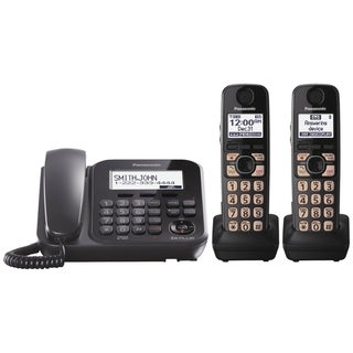 Panasonic KX-TG4772B DECT 6.0 1.90 GHz Cordless Phone - Black