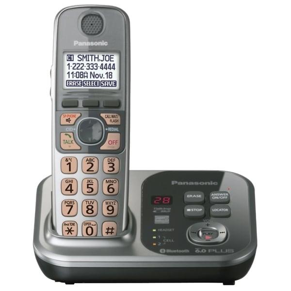 Panasonic KX-TG7731S DECT 6.0 1.90 GHz Cordless Phone - Silver