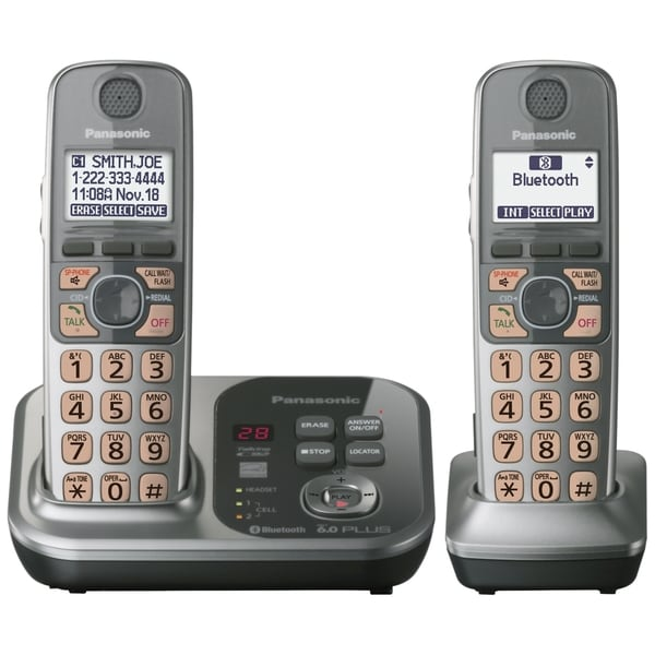 Panasonic KX-TG7732S DECT 6.0 1.90 GHz Cordless Phone - Silver