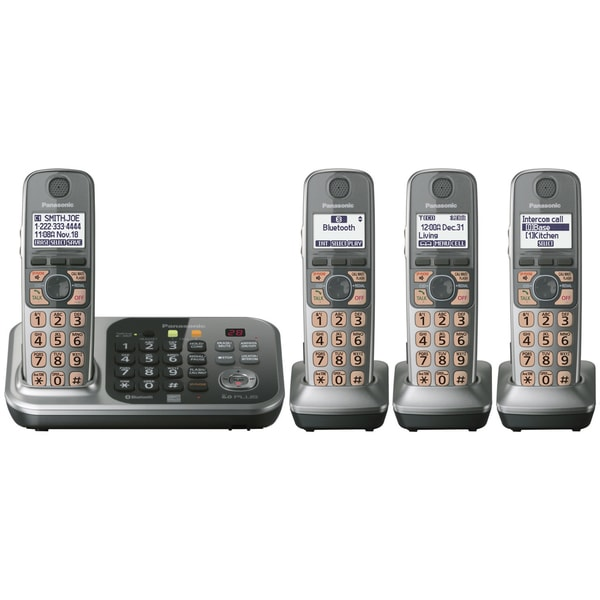 Panasonic KX-TG7745S Cordless Phone - 1.90 GHz - DECT 6.0