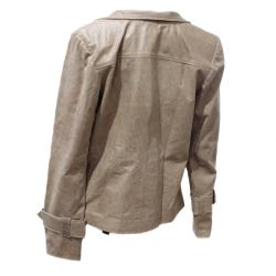 Handmade Women's Distressed Leather Designer Jacket (Ecuador) - Thumbnail 1