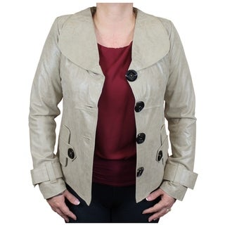Ladies Genuine Leather Designer Jacket Handmade (Ecuador)