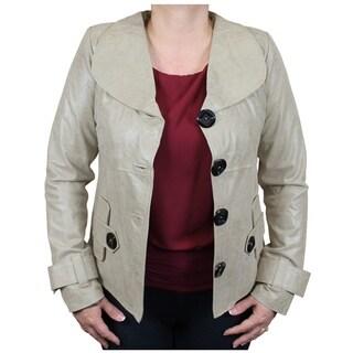 Ladies Genuine Leather Designer Jacket Handmade (Ecuador)