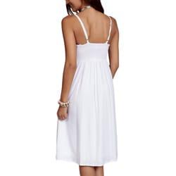 Women's White Summer Sun Dress (Indonesia)