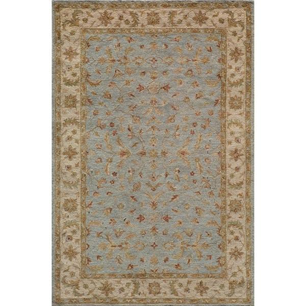 Hand-tufted Goa Blue Wool Rug (5' x 7'9)