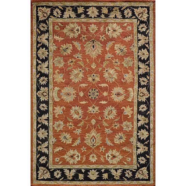Hand-tufted Goa Rust Wool Rug (3'6 x 5'6)