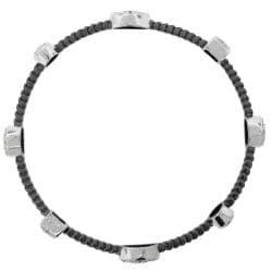 Sterling Silver Two-tone 1/3ct TDW Diamond Bangle Bracelet (H-I, I2-I3) - Thumbnail 1