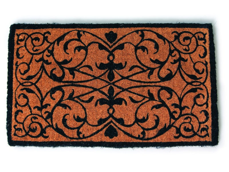 Iron Grate Rectangle Extra Thick Hand Woven Coir Doormat