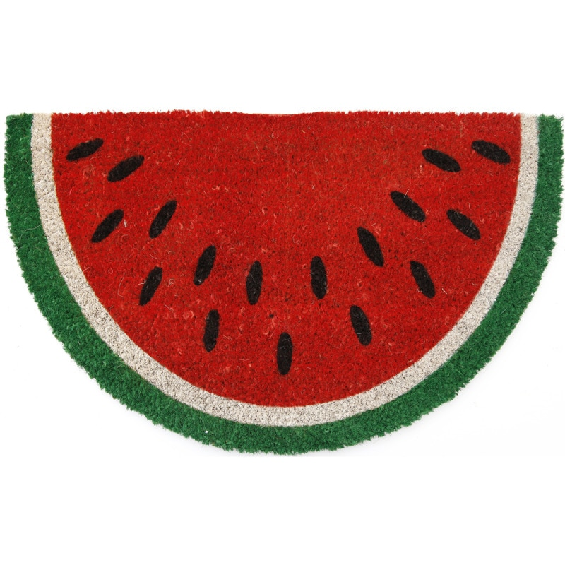 watermelon non-slip coir doormat - free shipping on orders over