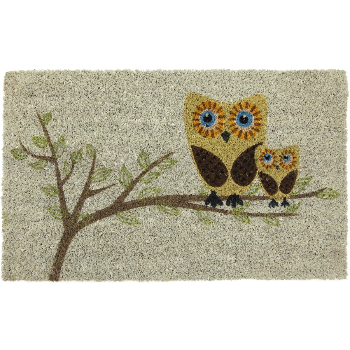 Give a Hoot Non-slip Coconut Fiber Doormat