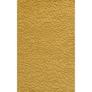 Loft Stones Gold Hand-Loomed Wool Rug (5' x 8')