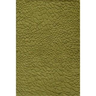 Loft Stones Grass Hand-Loomed Wool Rug (5' x 8')