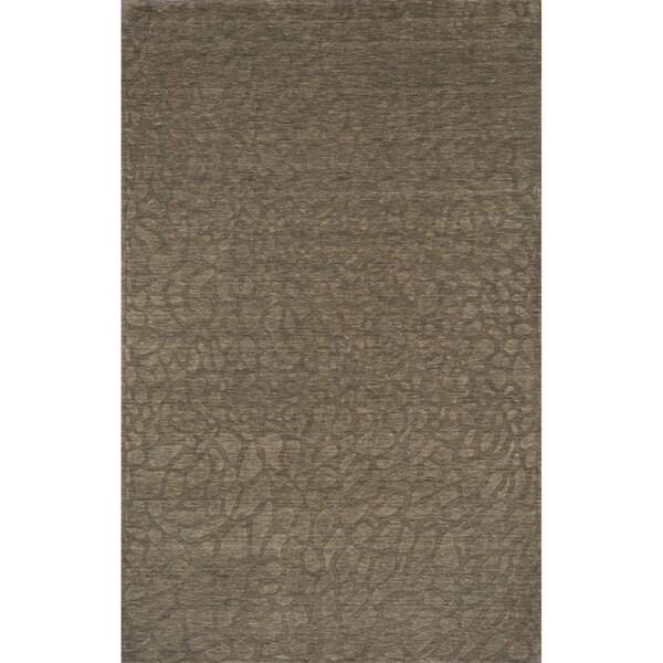 Loft Stones Sage Hand-Loomed Wool Rug (5' x 8')