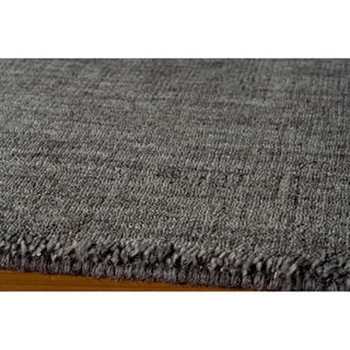 Loft Studio Charcoal Hand-Loomed Wool Rug (5' x 8')