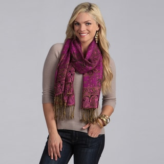 Women's Fuchsia Mixed Print Wrap