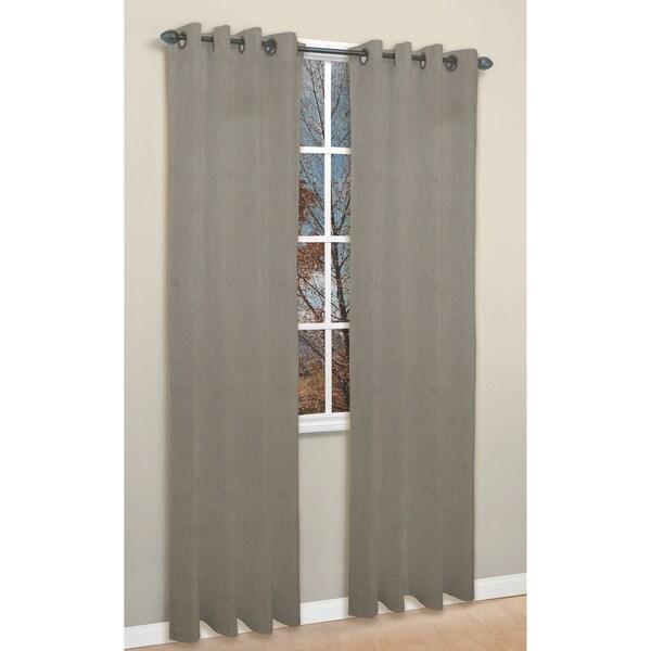 Tempo Grey 84-inch Curtan Panel Pair