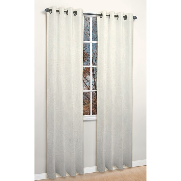 Tempo Ivory 84-inch Curtain Panel Pair