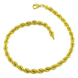 10k Yellow Gold 4-mm Rope Bracelet