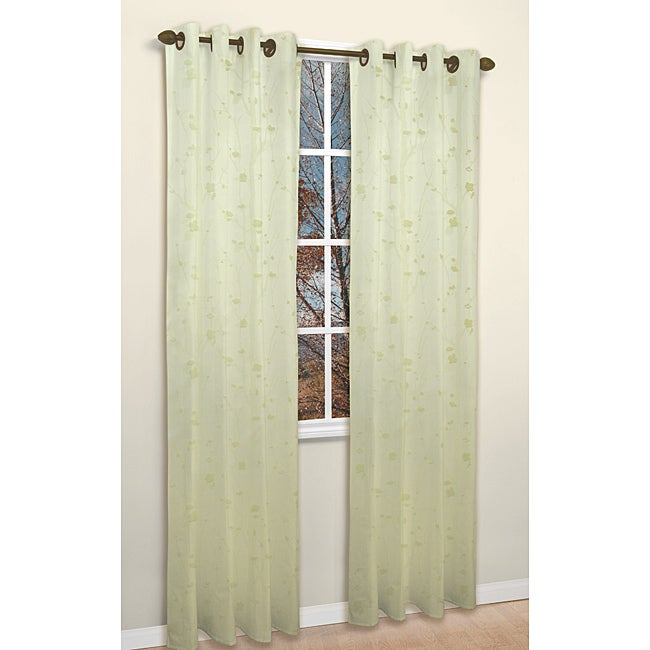 Shadows Willow 84-inch Jacquard Curtain Panel Pair