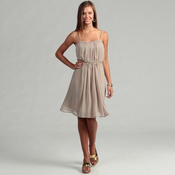 Calvin Klein Women's Khaki Bead Embellished Dress