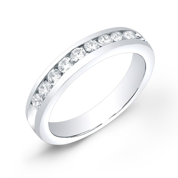 10k Gold 1 2ct TDW Diamond Channel Set Wedding Band