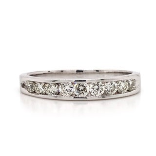 10k Gold 1/2ct TDW Diamond Channel-set Wedding Band