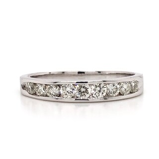 10k Gold 1/2ct TDW Channel-Set Diamond Wedding Anniversary Band (More options available)
