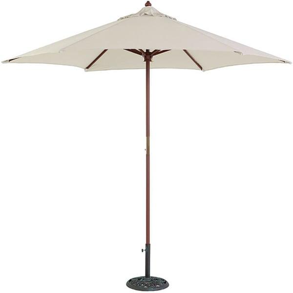 TropiShade 9-foot Wood Natural-tone Market Umbrella