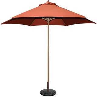 TropiShade 9' Wood Market Umbrella with Rust Cover