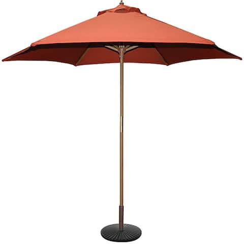 TropiShade 9' Wood Market Umbrella with Rust Cover