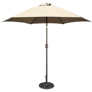 Aluminum Bronze Patio Umbrella With Beige Cover