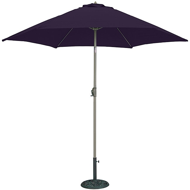 Tropishade 9 Foot Navy Aluminum Bronze Market Umbrella