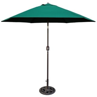 Tropishade 9 ft. Aluminum Bronze Patio Umbrella with Green Cover