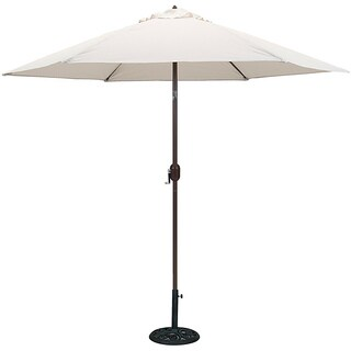 Tropishade 9 ft. Aluminum Bronze Patio Umbrella with Natural Cover
