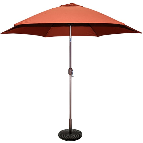 Tropishade 9 ft. Aluminum Bronze Patio Umbrella with Rust Cover