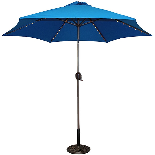 Tropishade 9 Foot Royal Blue Aluminum Bronze Lighted
