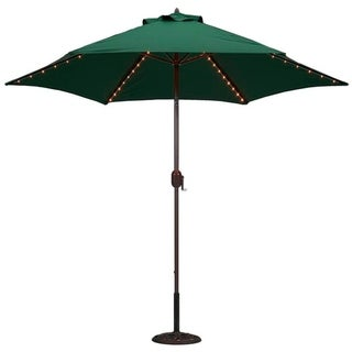 TropiShade 9-foot Green Aluminum Bronze Lighted Market Umbrella