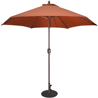 TropiShade 9-foot Rust Aluminum Bronze Lighted Market Umbrella