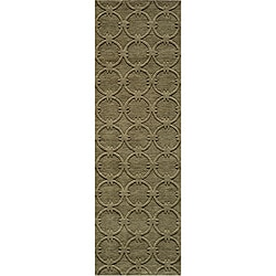 Loft Links Sage Hand-Loomed Wool Rug (2'6 x 8')