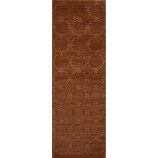 Loft Links Copper Hand-Loomed Wool Rug (2'6 x 8')