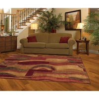 Pine Canopy Badlands New Wave Picasso Wine Area Rug  - 5' x 8'