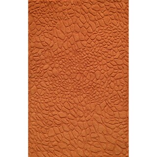 "Loft Stones Tangerine Hand-Loomed Wool Rug (3'6"" x 5'6"")"