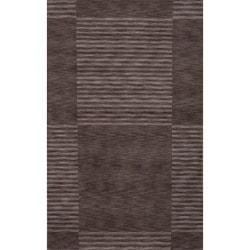 Loft Charcoal Blocks Hand-Loomed Wool Rug (8' x 11')